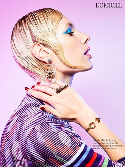 cover L'Officiel Beauty Shots by photographer Andrea Bielsa | 8AM artist management