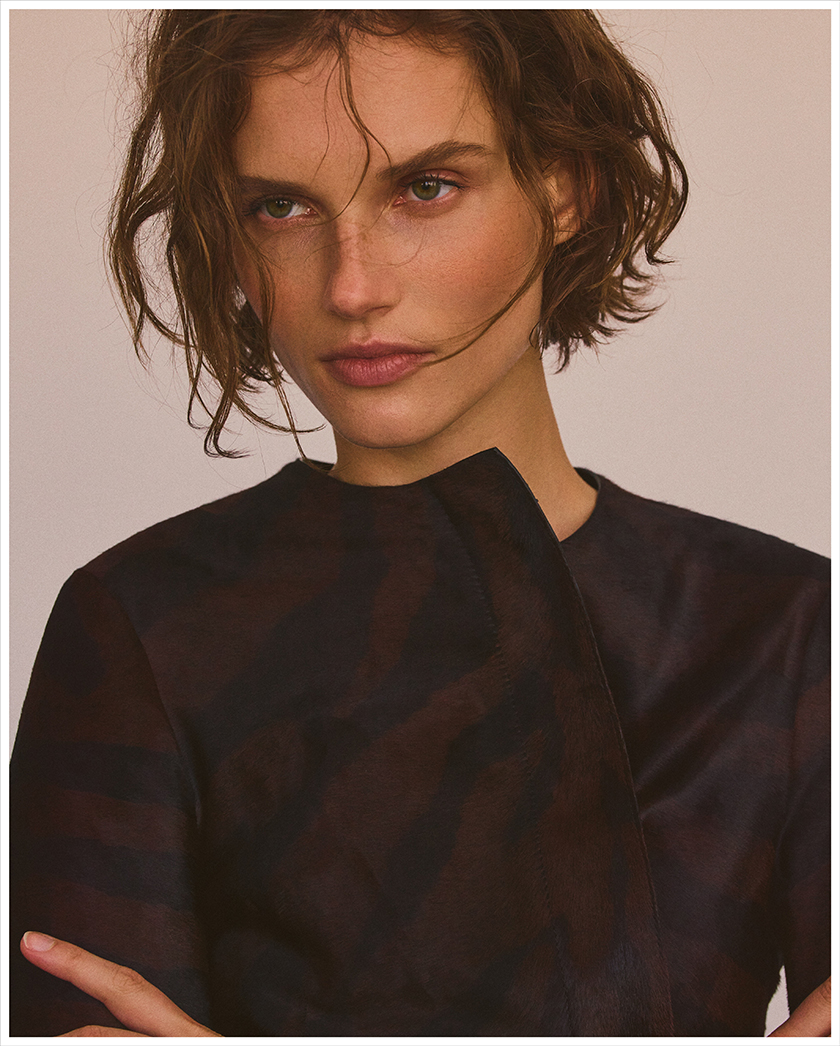 Giedre Dukauskaite shot by Gregory Harris for Massimo Dutti by stylist Miguel Padial. | 8AM artist management