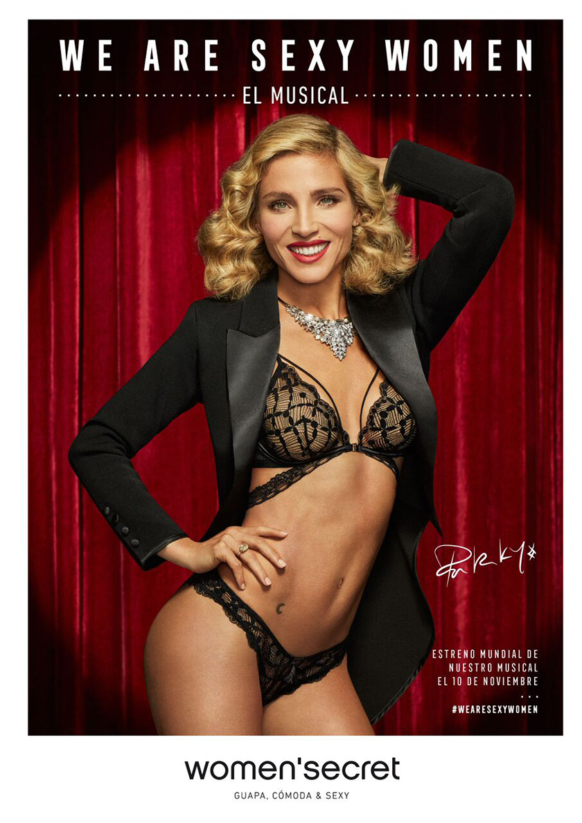 Actress Elsa Pataky for Women's Secret Campaign shot by fashion photographer Xavi Gordo | 8AM artist management