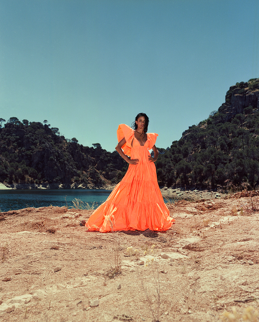 """""""The Swamp"""" Editorial with Vega Essermeant for InStyle by photographer Daniel Scheel.   8AM artist management"""